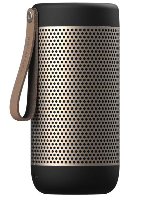 Kreafunk aCOUSTIC Blutooth højtaler- valgfri farve Black m. Champagne gitter-42