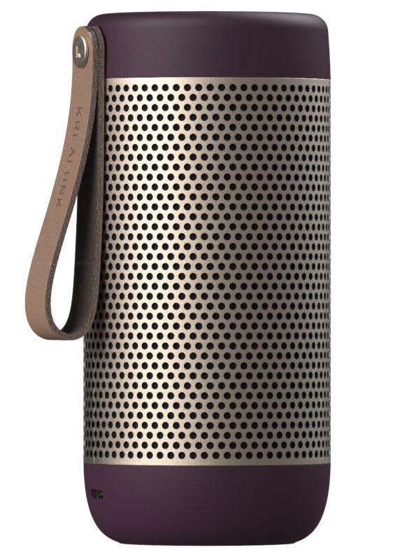 Kreafunk aCOUSTIC Blutooth højtaler- valgfri farve Urban Plum-45