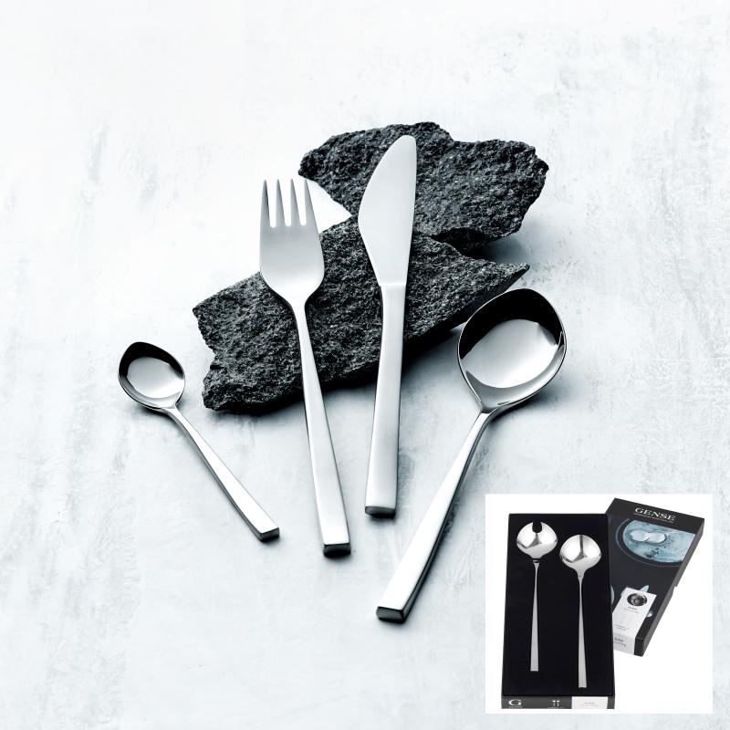 Gense Fuga bestiksæt 16 dele matblank og saltabestik