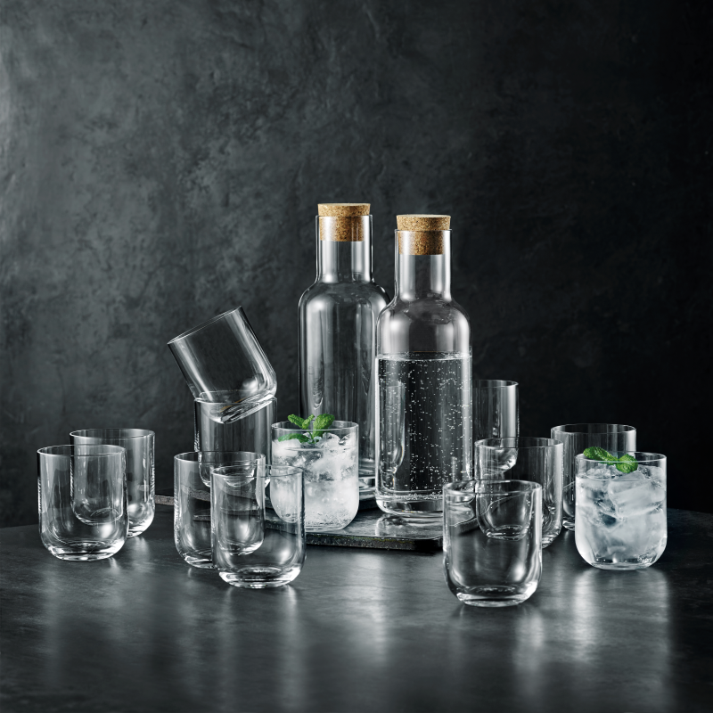 Luigi Bormioli sublime sæt 2 stk. karafler og 12 vandglas
