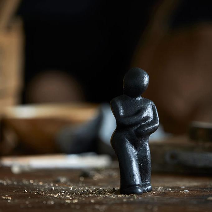 Morsø - Skulptur i Støbejern Mærk efter! Føles det rigtigt, så er det vejen - 11564