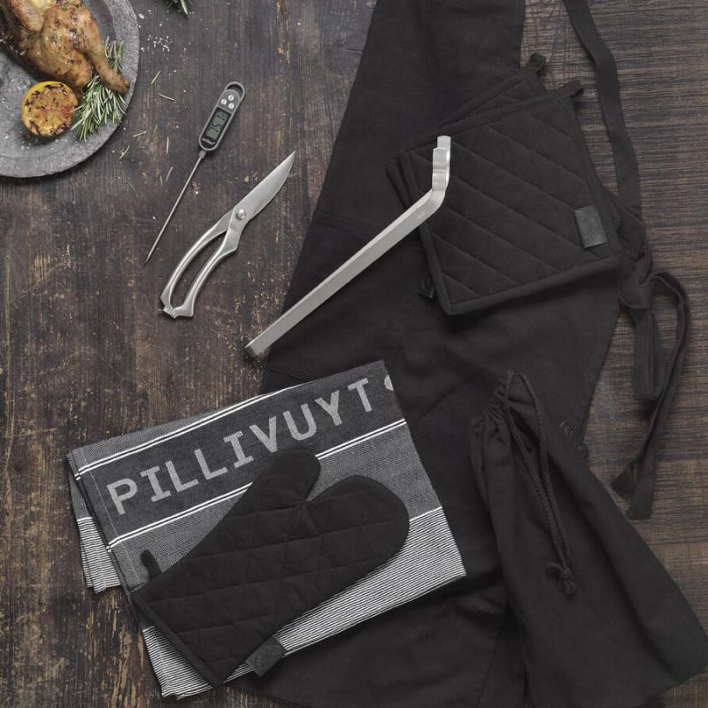 Stegetermometer, Fjerkræsaks, textilsæt og grilltang