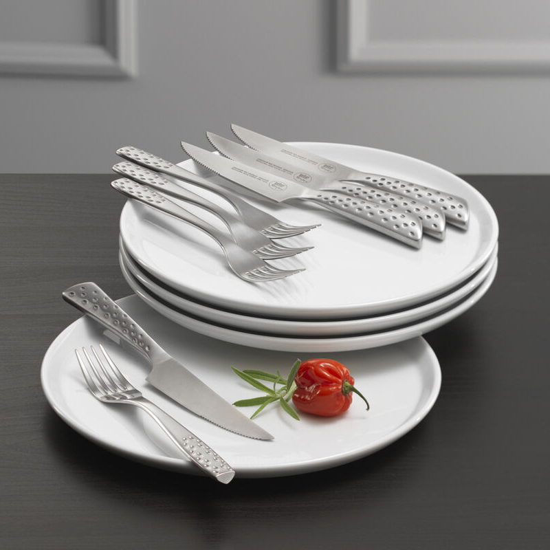 Weber - Tallerken & Steaksæt til 4 personer