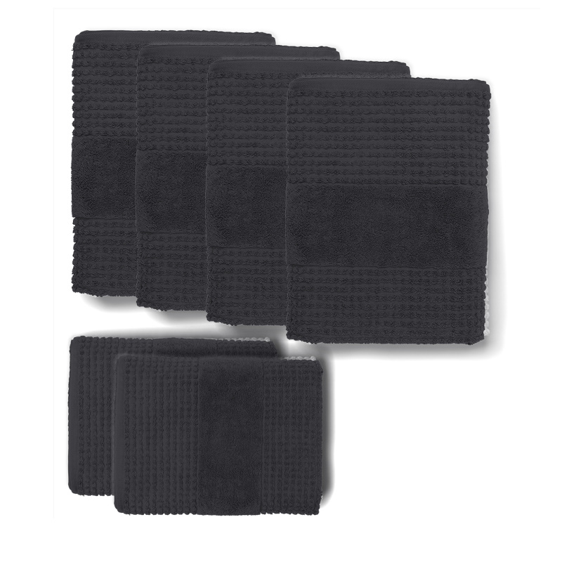 Rosendahl - Check Håndklædepakke Mørkegrå - 25101