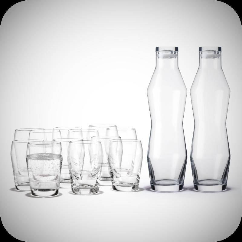 Holmegaard - HO Perfection 2 stk. Karafler & 12 stk. Glas