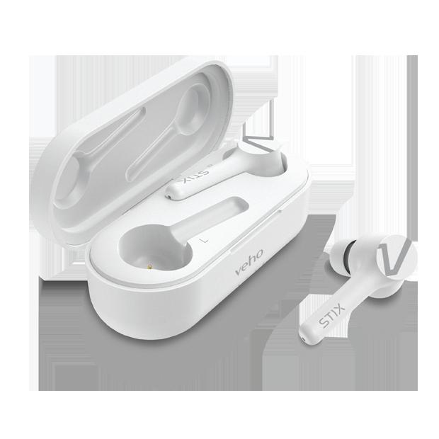 Veho - STIX Trådløse Øretelefoner Hvid