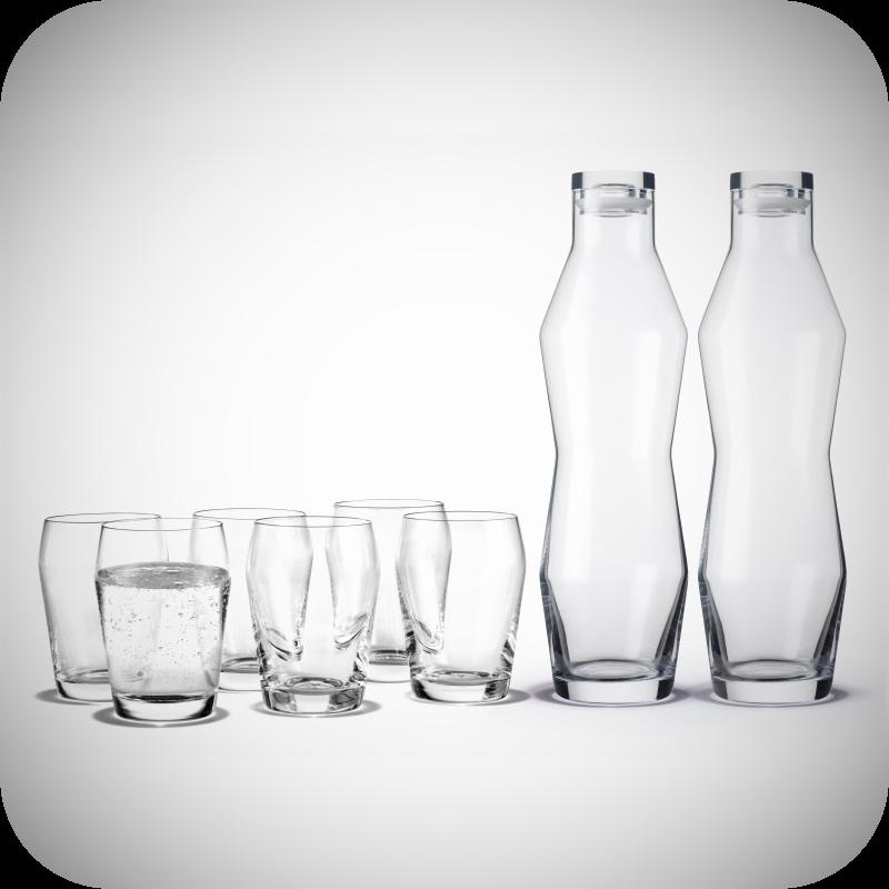 Holmegaard - Perfection 2 stk. Karafler & 6 stk. Glas