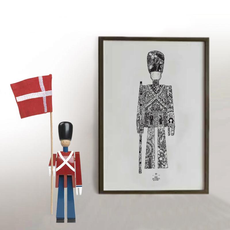 Kay Bojesen - Mini Fanebærer & Plakat