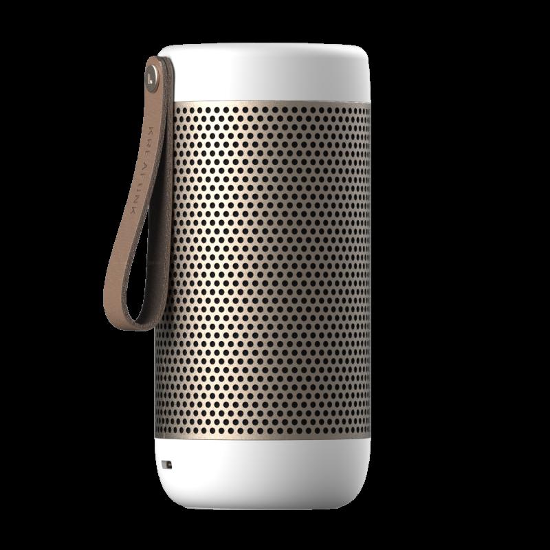 KREAFUNK - aCOUSTIC Bluetooth Højtaler Hvid - KFXWT41