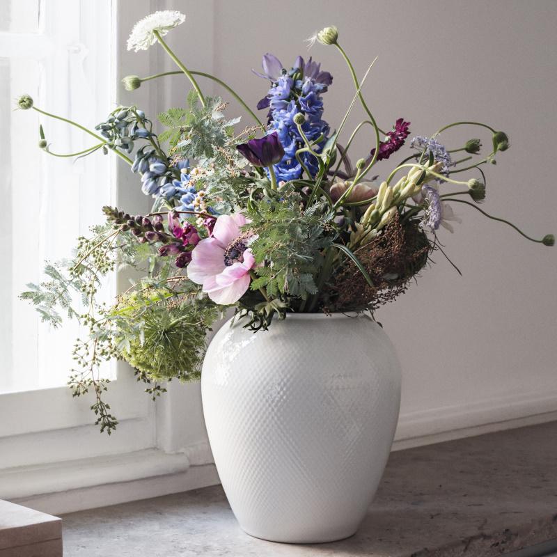 Lyngby Porcelæn - Rhombe Vase H25 cm