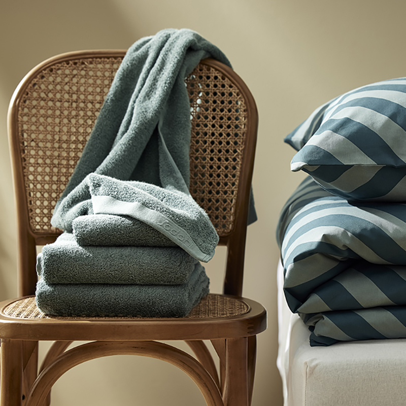 Södahl sengesæt+håndklæder Organic Diagonal i flere variationer