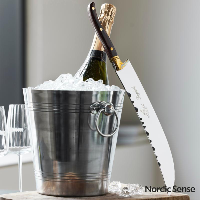 Champagne- eller vinkøler med sabel