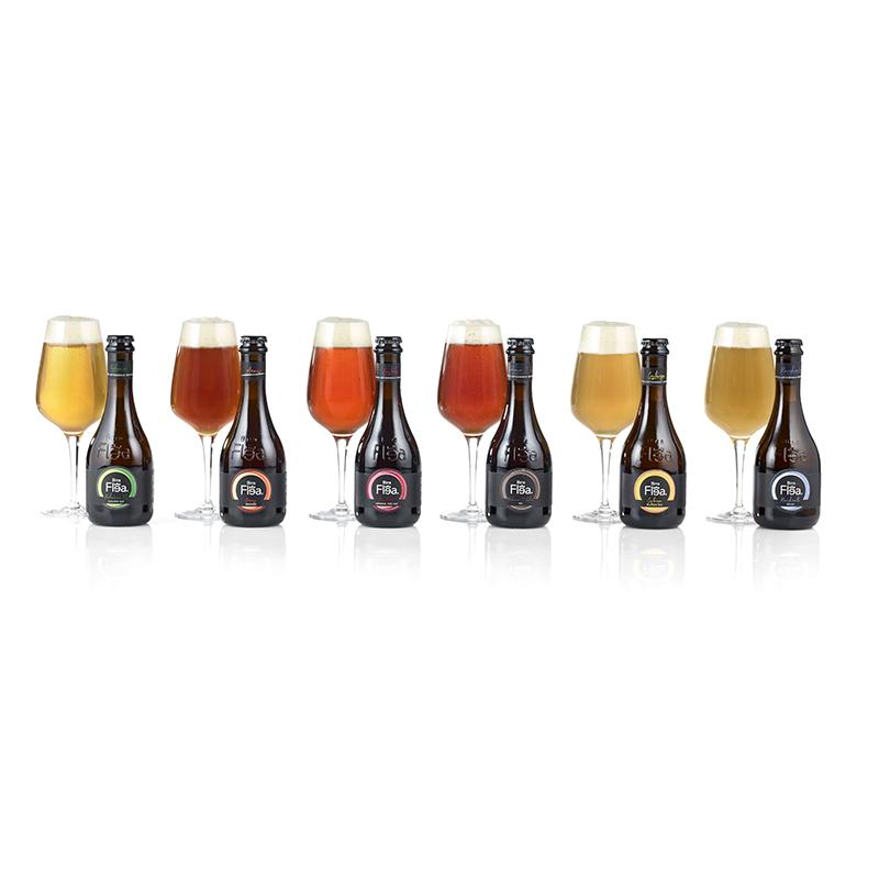 6 øl med ølglas
