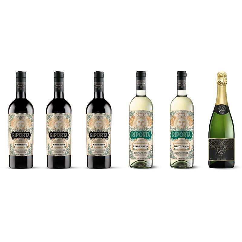 Vinpakke, 6 Spansk og italienske