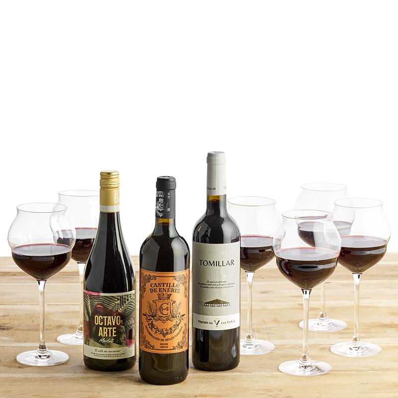 Vinpakke, Maracon glas og Spanien rundt