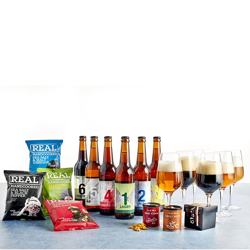 Ølkasse med 19 dele