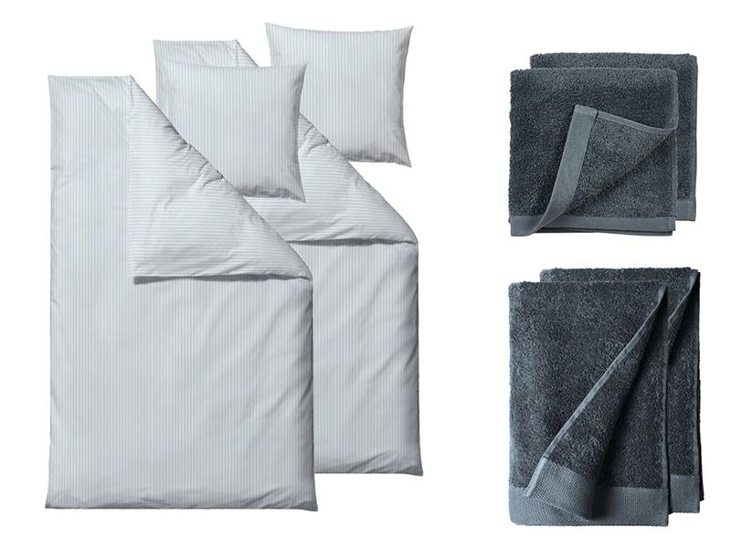 Södahl sengesæt+håndklæder Organic Common i flere variationer 220 cm Blå farver - 23105