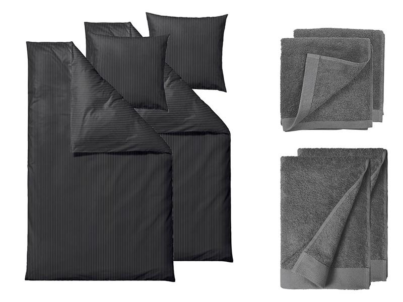 Södahl sengesæt+håndklæder Organic Common i flere variationer 220 cm Grå farver - 23111