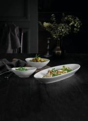 Pillivuyt Plissé serveringsfad og skål